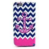 Deego Wave and anchor Credit Card Holder Case Cover for Apple iPhone 6 Plus