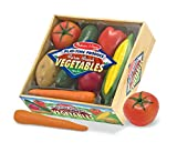 Melissa & Doug Playtime Produce Vegetables Play Food Set With Crate (7 pcs)