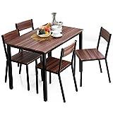 テーブル チェア ダイニングテーブル ダイニングセット コンパクト 5点セット 幅110 4人掛け ウォルナット