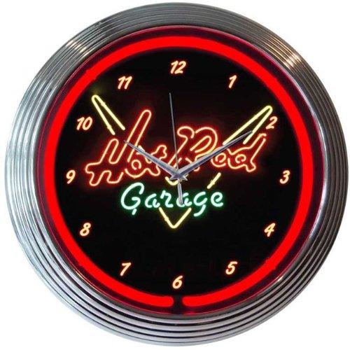 Neonetics Home Indoor Restaurant Kitchen Decorative Hot Rod Garage Neon Wall Clock (Vintage Neon Sign compare prices)