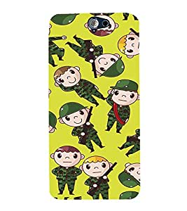 EPICCASE soldiers Mobile Back Case Cover For HTC One A9 (Designer Case)
