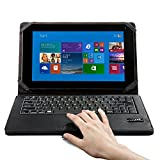 IClever Detachable Folding Wireless Bluetooth Keyboard Pu Leather Stand Case Touch Cover Mouse Touchpad for Microsoft Surface Rt/pro Win8 Windows 8 10.6 inch Tablet-IC-BKC02