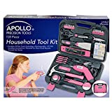 Apollo Precision Tools DT0773N1 Household Pink Tool Kit, 135-Piece, Donation Made to Breast Cancer Research