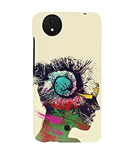 Girl with Head Phones 3D Hard Polycarbonate Designer Back Case Cover for Micromax Canvas Android A1 AQ4501 :: Micromax Canvas Android A1