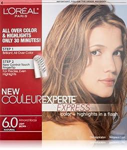 L'Oreal Paris Couleur Experte Express Hair Color, 6 Light Brown/Almond Rocca