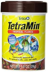 Tetra 77102 TetraMin Tropical Flakes, 1-Ounce, 185 ml