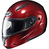HJC Metallic Men's CL-MAX II Bluetooth On-Road Motorcycle Helmet – Wine / Large