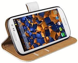mumbi Tasche im Bookstyle für Samsung Galaxy S3 i9300 / S3 Neo Tasche weiss