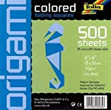 School Specialty Folia Origami School Pack - 6 Inch Square Sheets - 500 Sheets - Assorted Colors