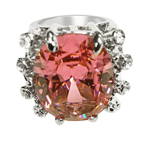 Women's Designer Crystal Ring By Tian Zoarm (7, Pink)