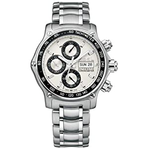 Ebel Men's 9750L62/63B60 1911 Discovery Chronograph Silver Dial Watch by Ebel