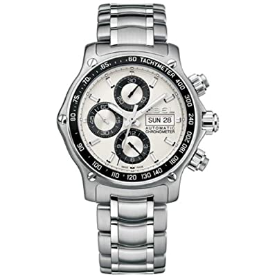 Ebel Men's 9750L62/63B60 1911 Discovery Chronograph Silver Dial Watch