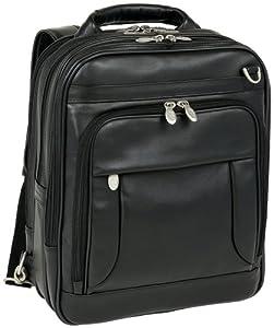 McKleinUSA LINCOLN PARK 41655 Black Leather Three-Way Computer Briefpack