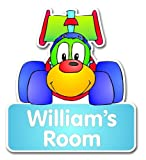 Childrens Personalised Racing Car Door Plaque