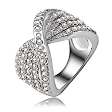 buy Ananta Jewelry Low-Key Ring Platinum Plated Pave Austrian Crystal Engagement Rinwedding Jewelry Ri-Hq0141