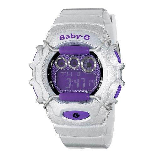 Casio Women's BG1006SA-8CR Baby-G Silver and Blue Digital Sport Watch