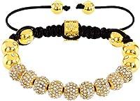 Royal Diamond Monaco Shamballa Adjustable Pave Bracelet with Swarovski Crystals (12 STYLES TO CHOOSE FROM)