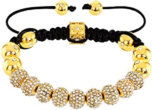 Royal Diamond Monaco Clear Crystal Shamballa Adjustable Pave Bracelet with Swarovski Crystals (12 STYLES TO CHOOSE FROM)