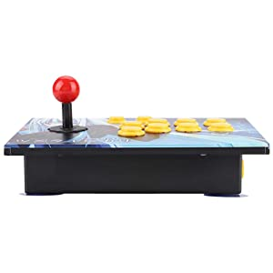 Akozon Arcade Stick, Arcade Console PC Computer Games USB Rocker Joystick Fighting Game Controller for Arcade Stick PC Games Mame Raspberry PI(8 Buttons) (Tamaño: 8 Buttons)