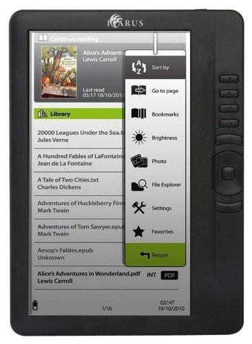 """Icarus Omnia lettore e-book M701BK - eReader LCD, 17,8 cm (7"""") (Rockchip, 4GB RAM), colore: Nero"""