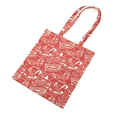 'Fisherman's Tale' Red Tote Bag||EVAEX||RLCTB