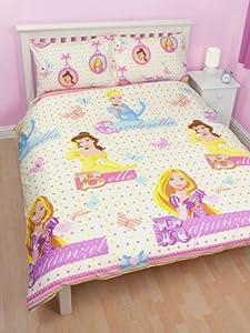 parure housse de couette linge de lit double princesse disney 200 x 200 2 personnes. Black Bedroom Furniture Sets. Home Design Ideas