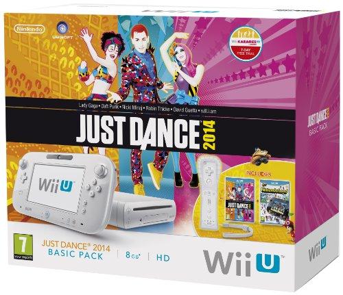 Nintendo Wii U Basic Pack 8GB Just Dance 2014-Pack mit Wii-Fernbedienung Plus, Senor Bar und Nintendo Land - Weiß (Nintendo Wii U)