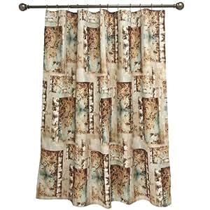 Bacova Guild Birch Reflections Fabric Shower Curtain