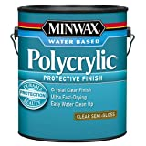 Minwax 14444000 Polycrylic Water-Based Protective Clear Finish, 1 gallon,  Semi-Gloss (Color: Semi-Gloss, Tamaño: Gallon)