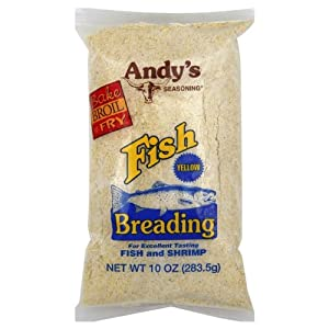 Andy's seasoning, Yellow fish breading for excellent tasting fish and shrimp 10 oz Bag