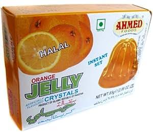 Ahmed Instant Set ORANGE Jelly Crystals (Halal) - 2.99oz