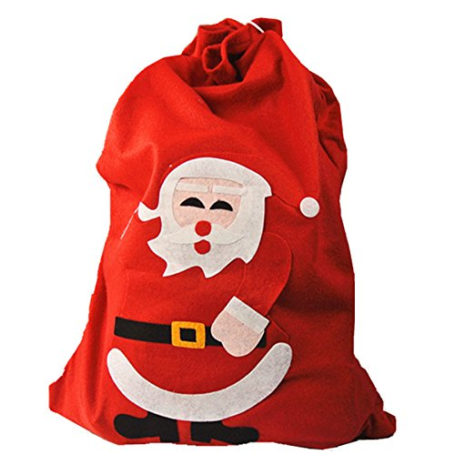 UNIQOOO Red Large xmas Christmas Cute Santa Claus Holiday Present Gift Bags