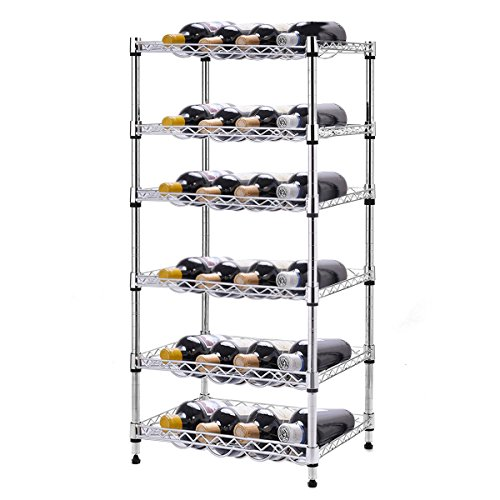 NEW 6-Shelf 24 Bottles Wine Rack Bottle Holder Organizer Display Liquor (Hutch Wine Rack compare prices)