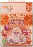 Vital Baby Press 'n' Pop Freezer Pots, Orange, 3 Ounce, 4 Pack
