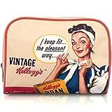 Retro Kellogg's PINK Cosmetic/Makeup Bag -Pin up Lady - VINTAGE Variety pack