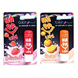 Color Fever Nourishing Lip Balm Combo - Stawberry + Orange