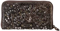Frye Deborah Glazed Vintage DB970 Wallet,Chocolate,One Size