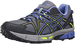 ASICS Women\'s Gel-Kahana 8 Trail Runner, Aluminum/Black/Flash Yellow, 8 M US