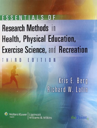 Essentials Of Research Methods In Health, Physical Education, Exercise Science, And Recreation (Point (Lippincott Williams & Wilkins)) front-994202