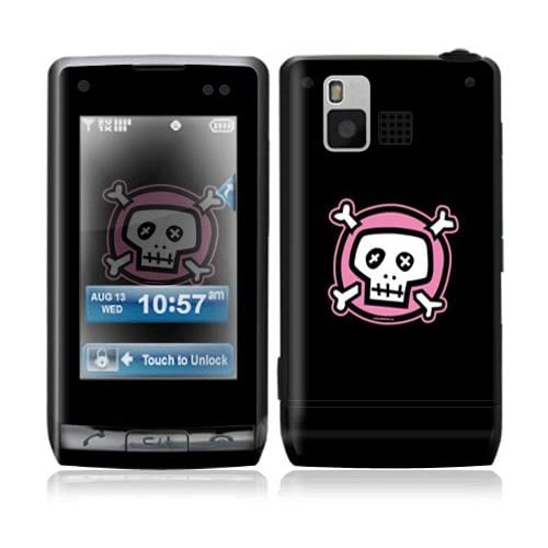 Pink Crossbones Decorative Skin Cover Decal Sticker for LG Dare VX9700 Cell Phone
