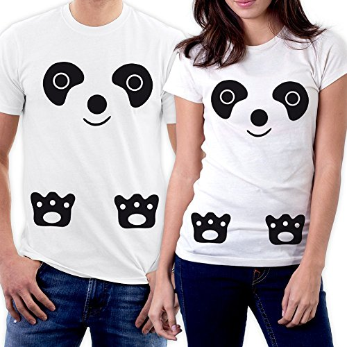 PicOnTshirt Funny Matching Couple Lover Novelty T-shirts Men M / Women S Design 14