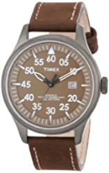 Timex Unisex T2N9989J Brown Distressed Leather Strap Watch
