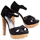 Ann Michelle Lust-02 Black Women Platform Sandals