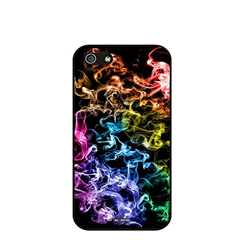 Dh-Hoping (Tm) Cell Phone Case For Personalizatied Custom Picture Iphone 5C High Impackt Combo Soft Silicon Rubber Hybrid Hard Pc & Metal Aluminum Protective Case With Customizatied Paint Retro Style Splash-Ink Luxurious Pattern (Dye-01)