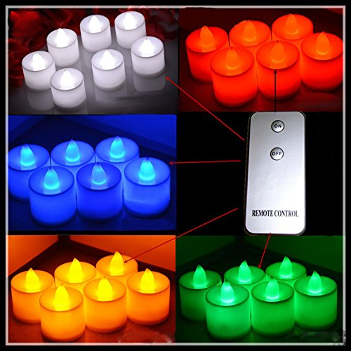 Hossen® 24Pcsglow Candles,Wedding Decoration,Led Candles,With A Remote Control,(Blue Light)