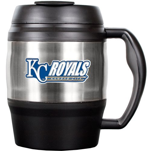 MLB Kansas City Royals 52-Ounce Stainless Steel Macho Travel Mug with Bottle Opener at Amazon.com