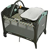 Graco Pack 'n Play with Reversible Napper & Changer Play Yard - Botany,Baby Newborn Infant Toddler Child Crib Napper Convertible to Play yard with Changing Table,Removable Bassinet, Toy bar and Carrying Bag