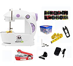 CreativeVia AK 29 In 1 Pack Portable And Compact With Foot Pedal 4 In 1 Mini Electric Sewing Machine
