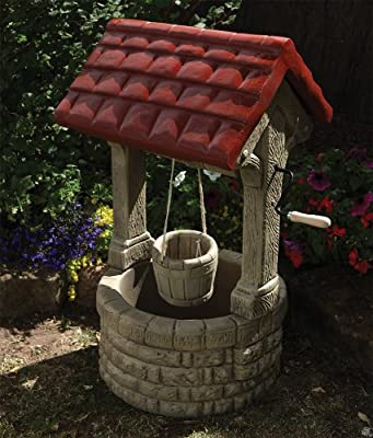 Stone Wishing Well Garden Feature OGD101