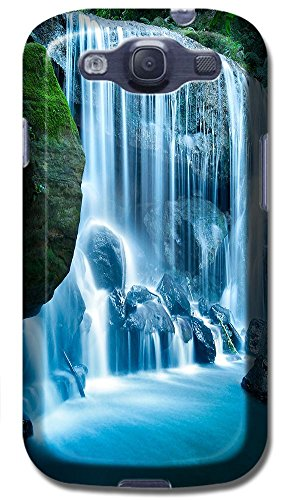 Beautiful Waterfall In The Hill Mountain Green Trees Cell Phone Cases Special Design For Samsung Galaxy S3 I9300 No.5